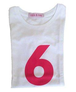 Geburtstagsshirt 6 pink auf mina-lola.com