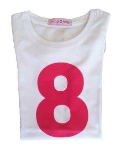 Geburtstagsshirt 8 pink auf mina-lola.com