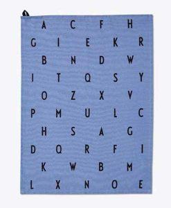 Geschirrtuch ABC blau von Design Letters