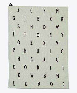 Geschirrtuch ABC grün von Design Letters