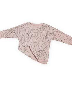 Loose Sweater CRACKED WALL rose auf mina-lola.com von LMH