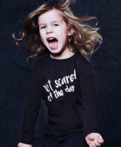 Longsleeve Shirt NOT SCARED auf mina-lola.com von Little Man Happy