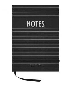 Notizbuch Schwarz von Design Letters auf mina-lola.com