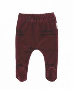 Baby Footed Pants Shoo Worries red auf mina-lola.com von tinycttons