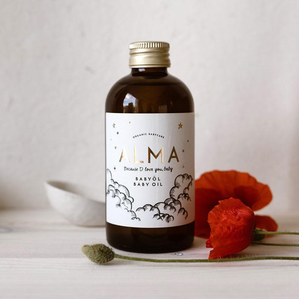Alma Organic Babyöl auf www.mina-lola.com