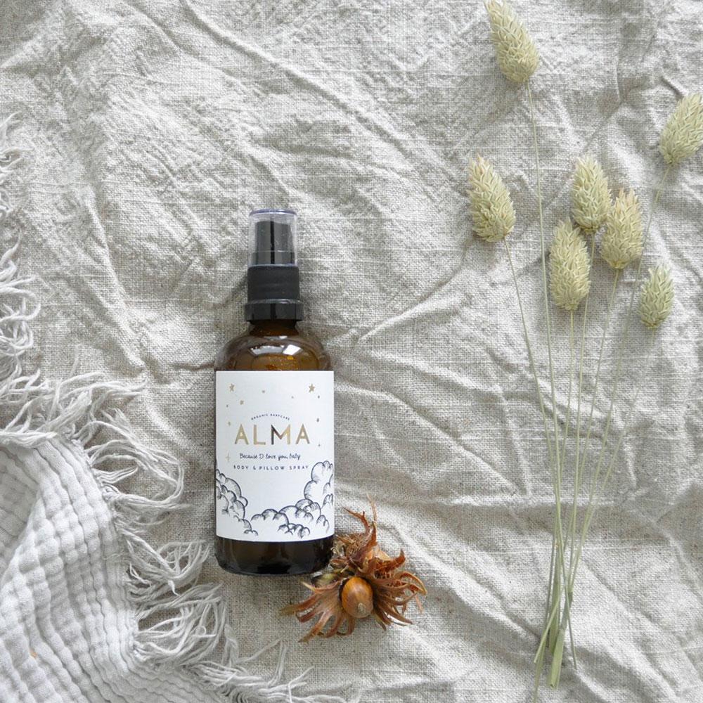Alma Organic Body&Pillowspray auf www.mina-lola.com