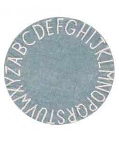 Teppich ABC Rund AZUL auf mina-lola.com von Lorena Canals