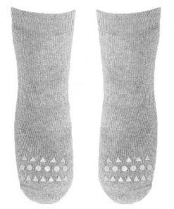 Rutschfeste Socken hellgrau auf mina-lola.com von GoBabyGo