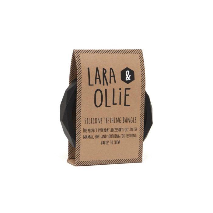 Armreif Geometric BLACK Lara&Ollie auf www.mina-lola.com