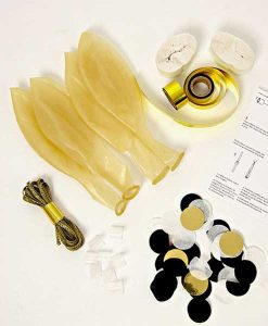 Confetti Balloon Kit Gold & Silver Meri Meri auf mina-lola.com