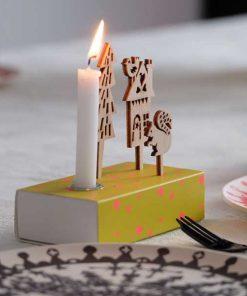 Kerzenbox Winter Gelb von Engel auf mina-lola.com
