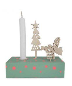Kerzenbox Winter Grün von Engel auf mina-lola.com