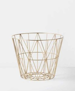 Metallkorb in Gold Small Ferm Living auf mina-lola.com