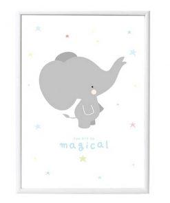 Poster Elefant A Little Lovely Company auf mina-lola.com