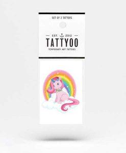 Tattoo Glitzer Unicorn auf mina-lola.com von Tattyoo