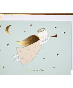 Weihnachtskarte mit Angel auf mina-lola.com von Meri Meri