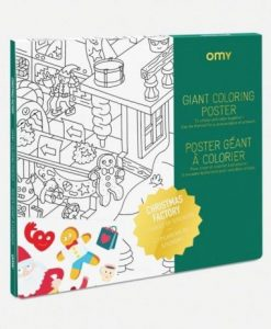 Giant coloring poster Christmas Factory auf mina-lola.com vom OMY