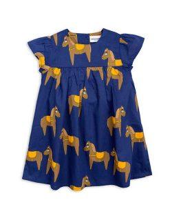 Kleid mit Rüschen & Pferd Mini Rodini auf mina-lola.com