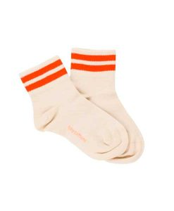 Socks Double Line Orange Tinycottons auf mina-lola.com
