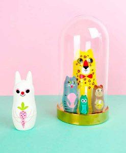 Matryoschkas Animals 3 von Omm Design auf mina-lola.com