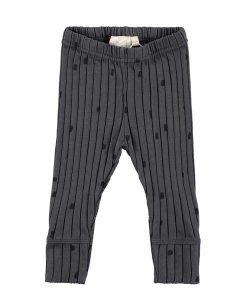 Ribbed Slim Pants Charcoal Confetti Mini Sibling auf mina-lola.com