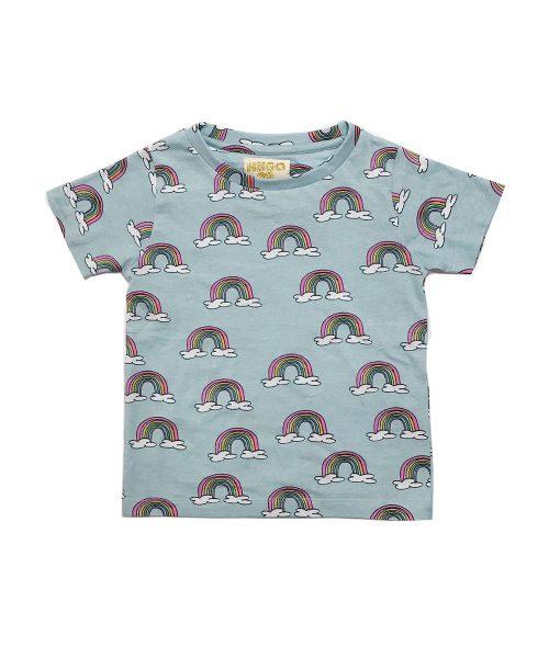 T-Shirt Blue Rainbows von Hugo Loves Tiki auf mina-lola.com