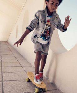 Jeans Bermuda mit Applikationen Little Marc Jacobs auf mina-lola.com
