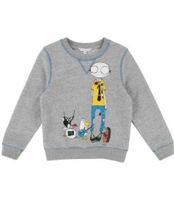 Sweatshirt Mr Marc Grau Little Marc Jacobs auf mina-lola.com