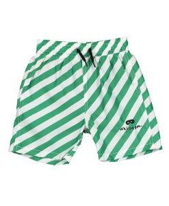 Swim Shorts Vanilla/Green Stripes BEAU LOve auf mina-lola.com