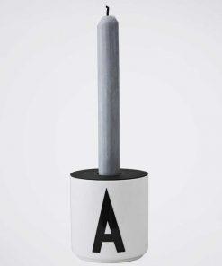 Candle Holder Black Design Letters auf mina-lola.com