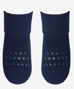 Rutschfeste Socken Bambus Dunkelblau GoBabyGo auf mina-lola.com