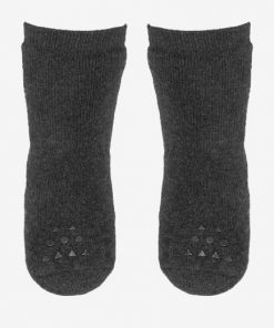 Rutschfeste Socken Dark Grey Melange GoBabyGo auf mina-lola.com