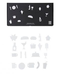 Icons FOOD White Design Letters auf mina-lola.com