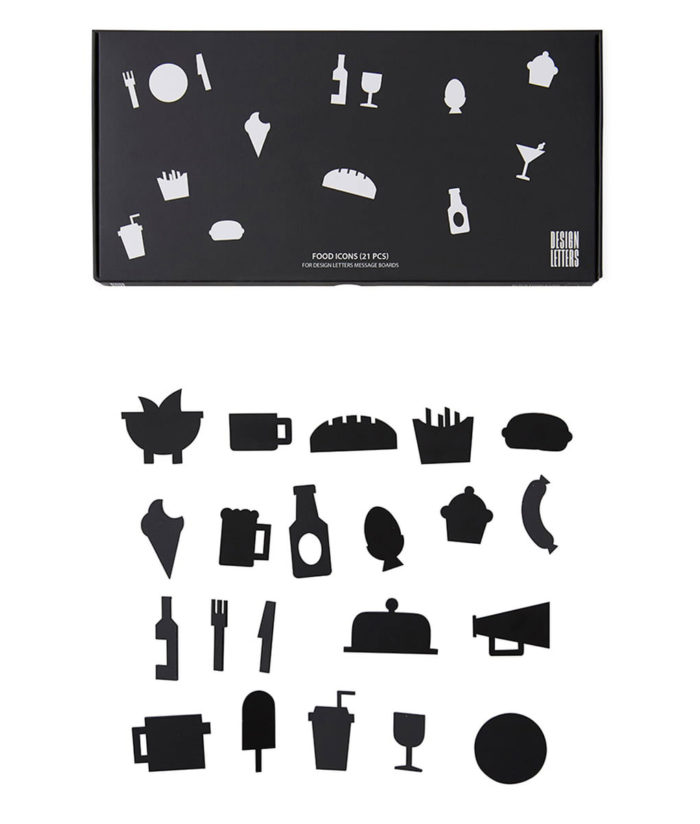 Icons FOOD Black Design Letters auf mina-lola.com