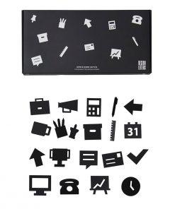Icons OFFICE Black für Message Boards Design Letters auf mina-lola.com