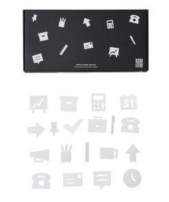 Icons OFFICE White Design Letters auf mina-lola.com
