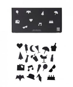 Party Icons for Message Boards in Black auf mina-lola.com from Design Letters