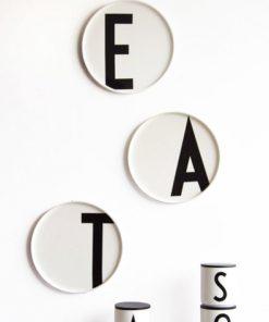 Porzellanteller A bis O Design Letters auf www.mina-lola.com