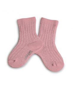 Socken Glitzer Rosa Quartz Collégien auf www.mina-lola.com