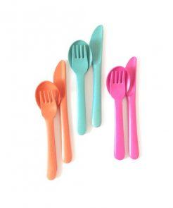 Biobi Besteck Set in Pink auf mina-lola.com von EKOBO