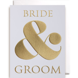 Klappkarte Bride & Groom von Lagom Design auf www.mina-lola.com