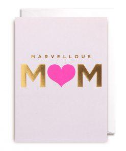 Klappkarte Marvellous Mum von Lagom Design auf www.mina-lola.com