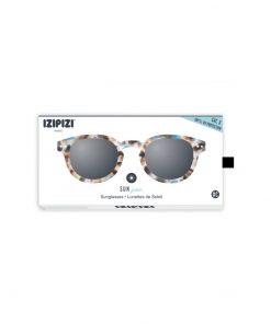 Sonnenbrille #C Junior Blue Tortoises Grey Lenses Izipizi auf www.mina-lola.com
