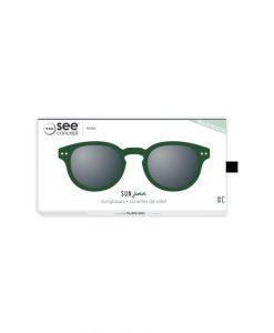 Sonnenbrille #C Junior Green Crystal Izipizi auf www.mina-lola.com