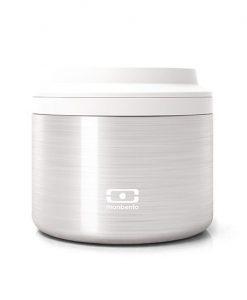 Die isotherm lunchbox MB Element silver auf mina-lola.com von Monbento