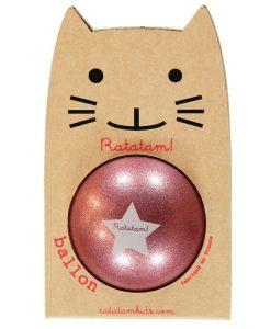 Ball Rosa Glitzer 25cm auf mina-lola.com von Ratatam