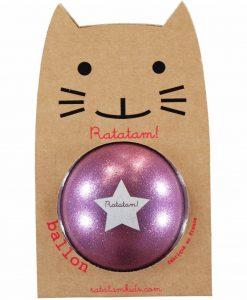 Ball in Violet Glitzer 15 cm auf mina-lola.com von Ratatam