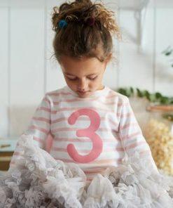 Geburtstagsshirt 1 in Dusty Pink und Weiß auf mina-lola.com von Bob and Blossom
