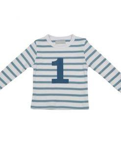 Geburtstagsshirt Ocean Blue und Weiß auf mina-lola.com von Bob and Blossom