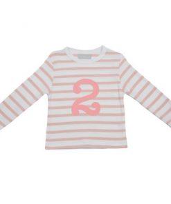 Geburtstagsshirt 2 dusty pink und weiß auf mina-lola.com von Bob and Blossom